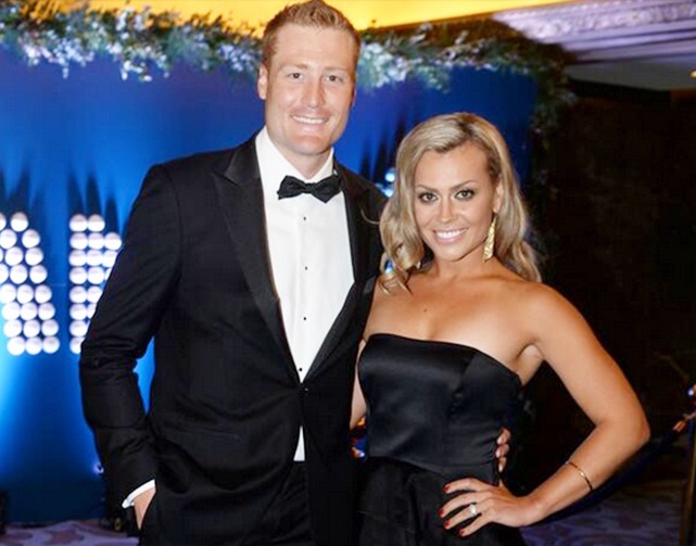 Martin Guptill and his wife