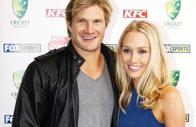 Shane Watson and his wife