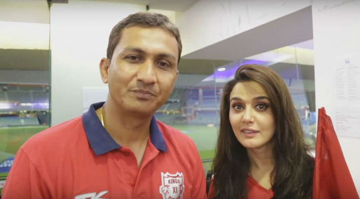 Preity Zinta and Sanjay Bangar