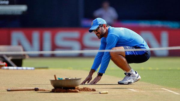 MS Dhoni pitch