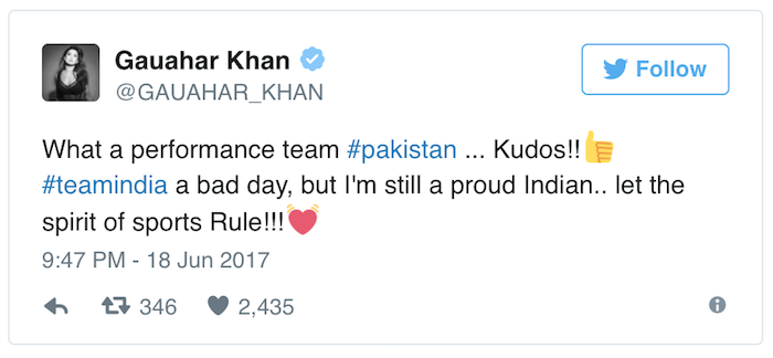 Gauahar Khan tweet