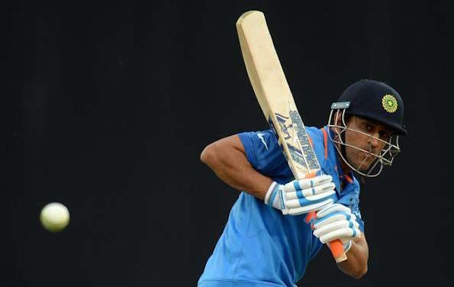 MS Dhoni batting ODI