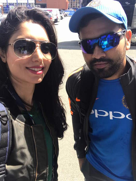 zainab abbas with rohit sharma