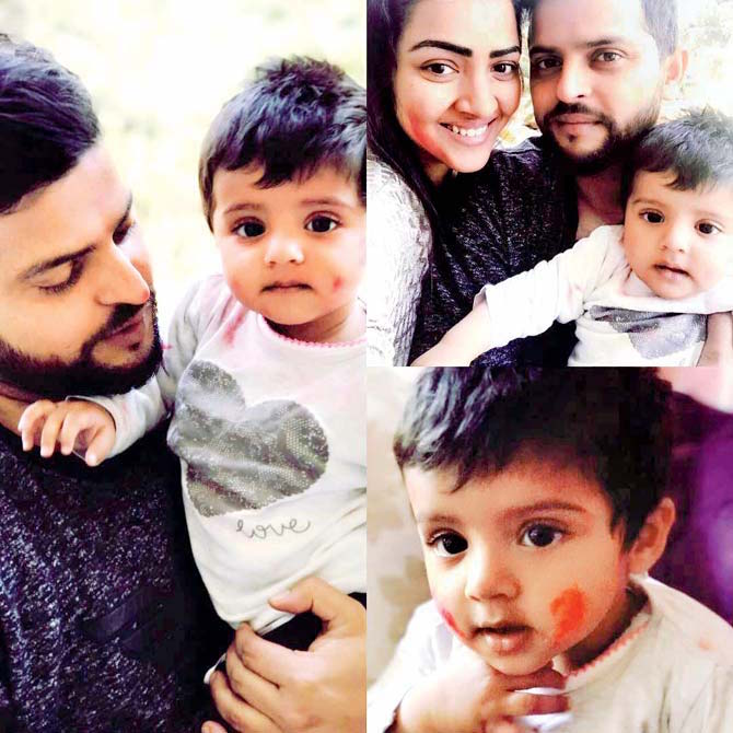 Suresh Raina with daughter