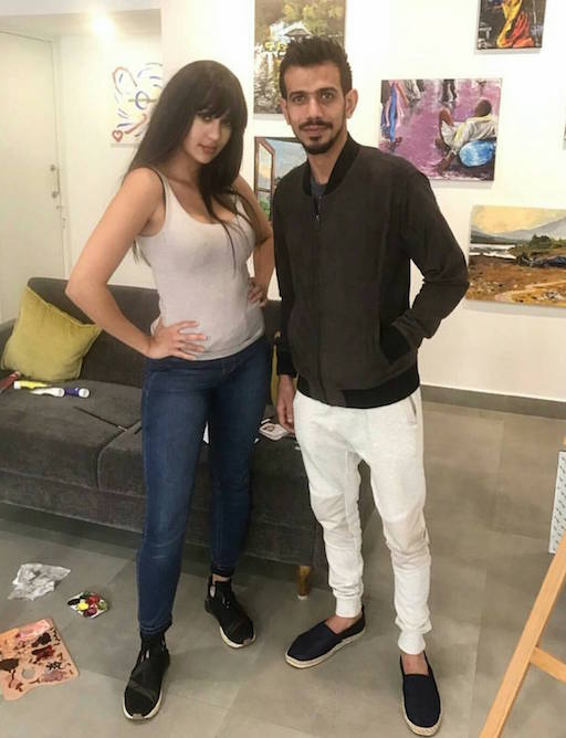 Yuzvendra Chahal with mystery girl