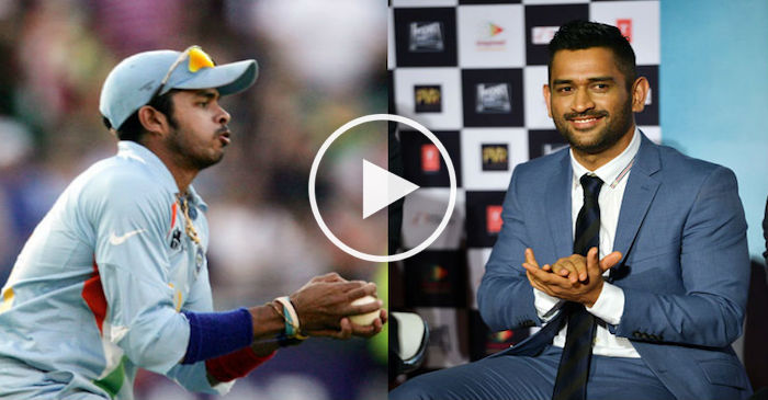 WATCH : MS Dhoni's crazy explanation on 2007 T20 World Cup catch by S. Sreesanth