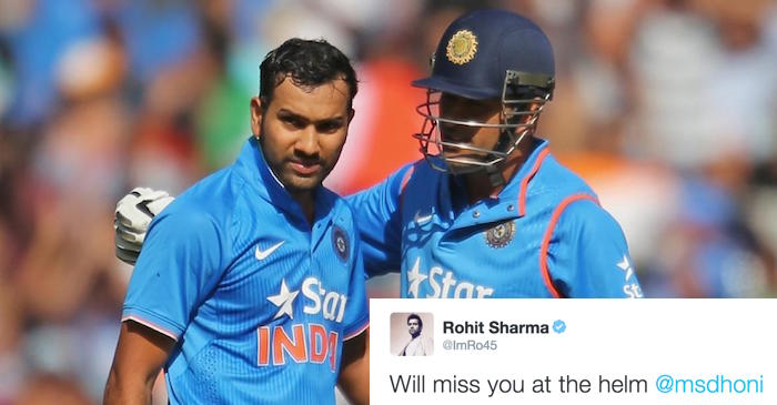 Cricket fraternity reacts to MS Dhoni stepping down from ODI and T20I captaincy