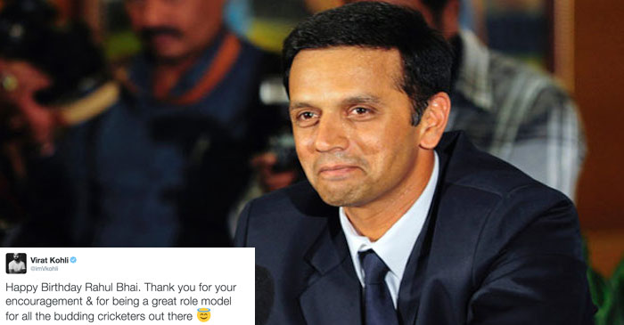 Cricketing fraternity wishes Rahul Dravid on his 44th birthday