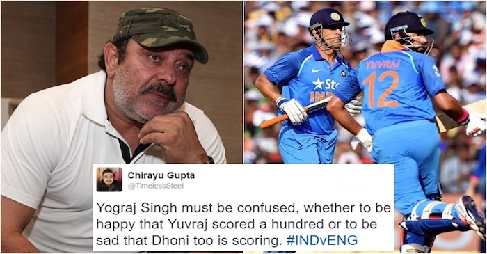 Twitteratis' once again trolled Yograj Singh after Yuvraj-Dhoni show helped India beat England at Cuttack