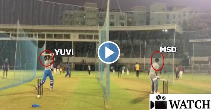 WATCH : MS Dhoni and Yuvraj Singh practicing in the nets ahead of India vs England Series