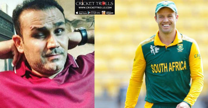 Virender Sehwag birthday message for AB de Villiers is the best thing you will read today!