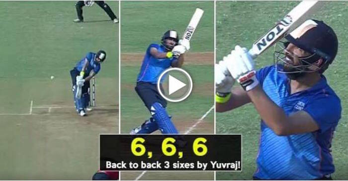 Yuvraj Singh smashed 3 consecutive sixes off Aniket Choudhary in Syed Mushtaq Ali Trophy