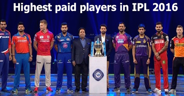 List of highest paid players in IPL 2016