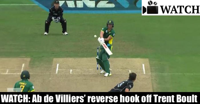 WATCH: AB de Villiers plays an amazing 'reverse hook' against New Zealand