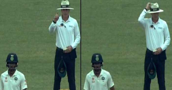 WATCH: Umpire Chris Gaffaney changes his decision mid-way following Australian players feeble appeal