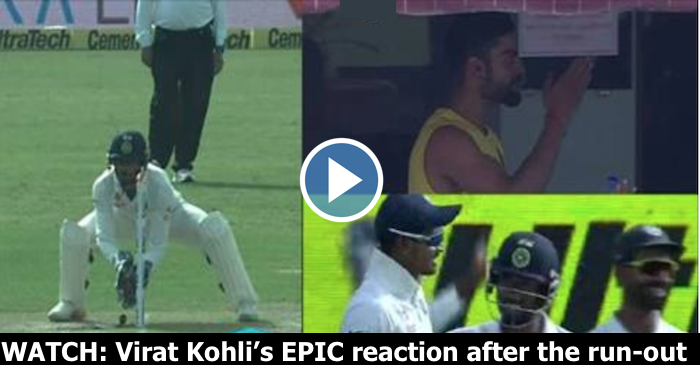 WATCH: Virat Kohli's epic reaction after Shreyas Iyer's superb fielding results in a run-out of Steve O' Keefe