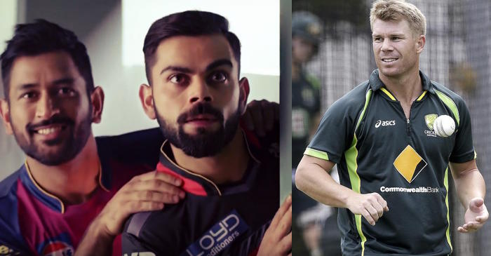 David Warner's description of Virat Kohli and MS Dhoni will make every Indian go 'WOW'