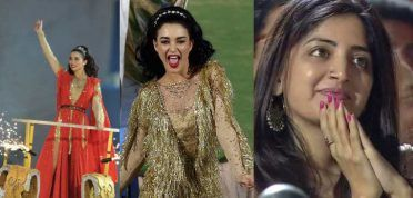 PHOTOS: Amy Jackson overshadowed by mystery girl at IPL 2017 opening ceremony in Hyderabad