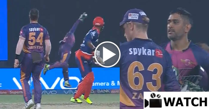 WATCH : MS Dhoni takes one-handed blinder to dismiss Marlon Samuels