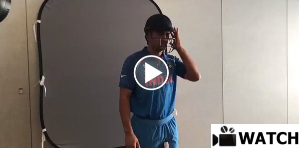 MS Dhoni behind the scenes