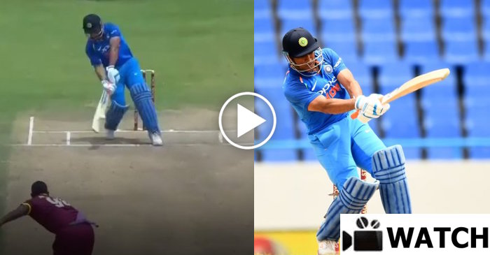 WATCH: MS Dhoni's unorthodox SIX against West Indies in the 3rd ODI