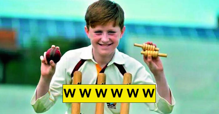 Luke Robinson takes six wickets in an over