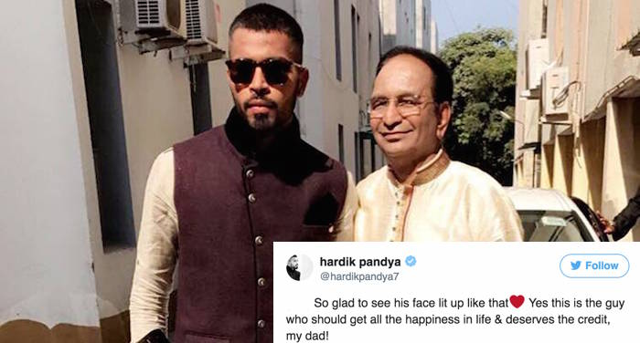 Hardik Pandya surprises his father by a special gift