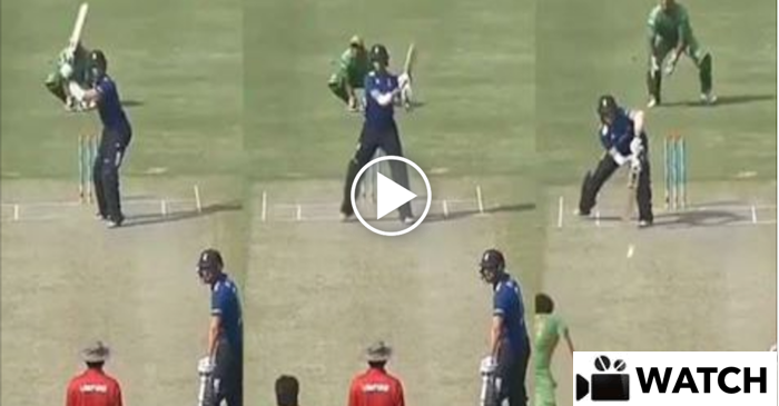 WATCH: The most HILARIOUS shot ever played in cricket