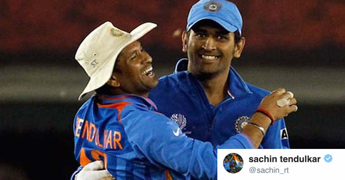 This post from Sachin Tendulkar to MS Dhoni is winning the internet