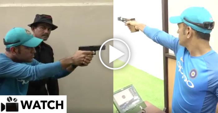 WATCH : MS Dhoni gets involved in shooting at Kolkata Police Training School