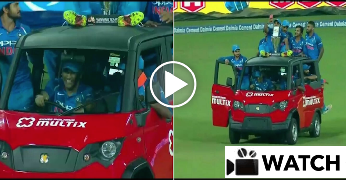 WATCH: MS Dhoni takes Team India on ride in Jasprit Bumrah's 'Multix Car' in Colombo