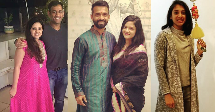 Cricketers Diwali pictures