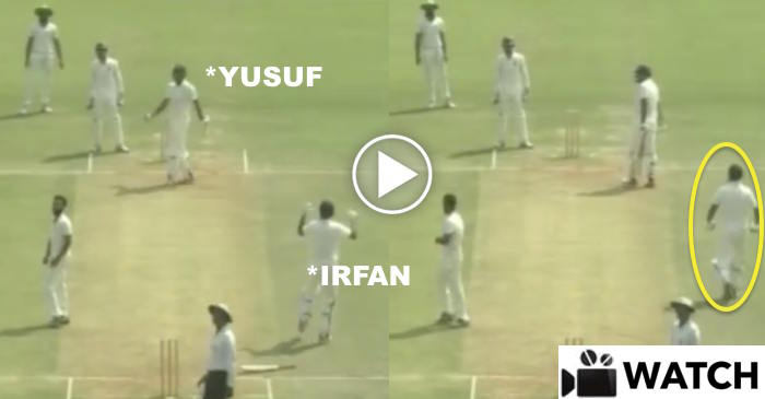 VIDEO: Irfan Pathan's incredible celebration after Yusuf Pathan completed his century