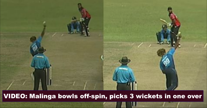 WATCH: Lasith Malinga turns off-spinner, claims three wickets in one over