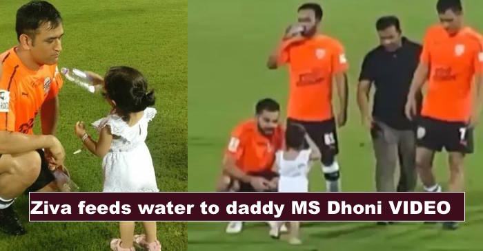 WATCH: Ziva meets daddy MS Dhoni and uncle Virat Kohli on the football field