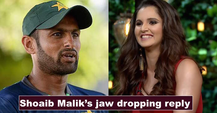 Shoaib Malik gives a hilarious reply when asked 'Is Sania Mirza behind his fitness?'