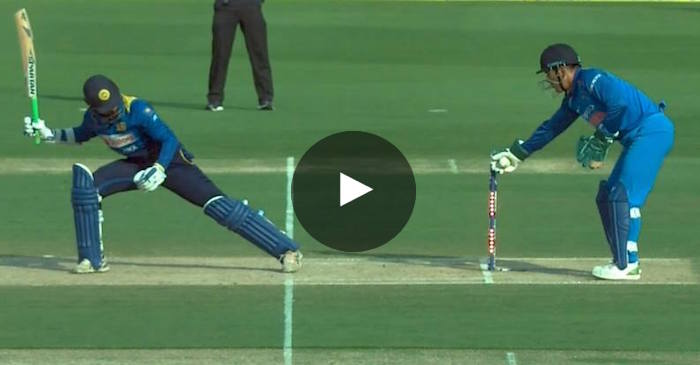 WATCH: MS Dhoni's brilliant stumping denies Upul Tharanga from getting a century