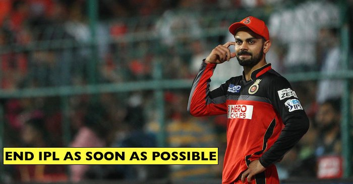 Here is why Virat Kohli wants IPL 2018 to finish as early as possible