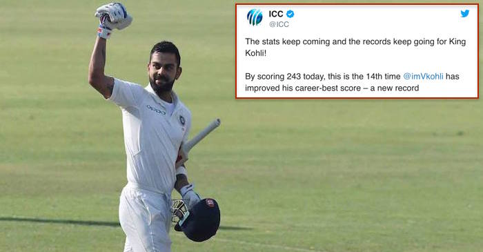 Cricketing world reacts as captain Virat Kohli smashes record 6th double century in Tests