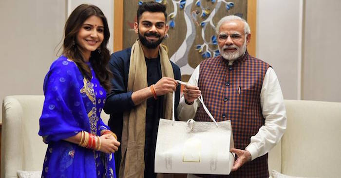 Photos: Virat Kohli, Anushka Sharma meet PM Narendra Modi