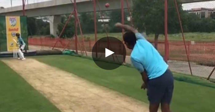 VIDEO: Ravichandran Ashwin tries his hand at seam bowling in the nets
