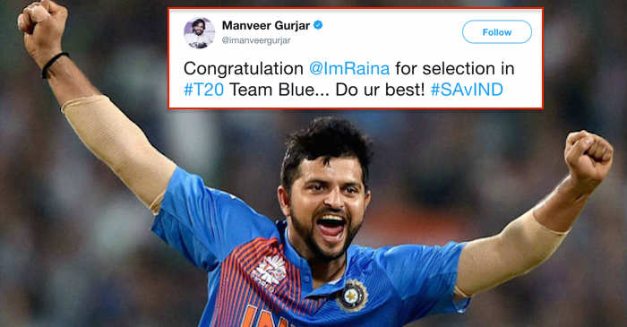 Twitter erupts as Suresh Raina makes a comeback in T20I squad against South Africa