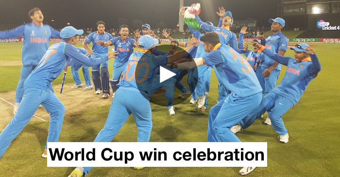 VIDEO: India Under-19 team celebrates the World Cup win in grand fashion