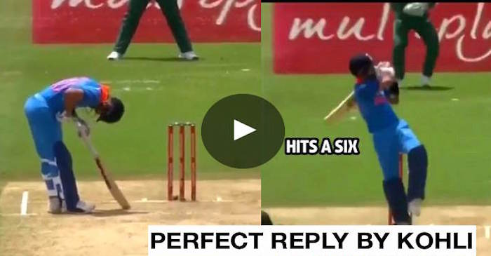 VIDEO: Virat Kohli gives a perfect reply after being hit on ribs by Kagiso Rabada