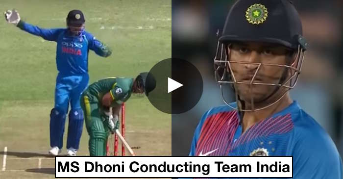 VIDEO: MS Dhoni guides Team India from behind the stumps