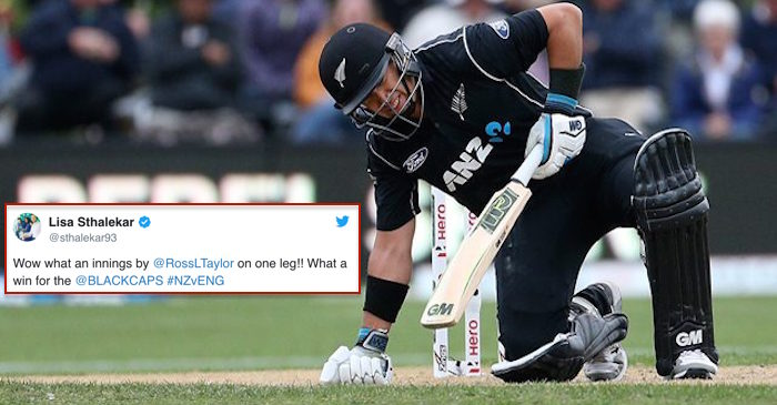Cricket fraternity applauds Ross Taylor for his gutsy 181 against England
