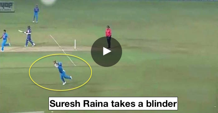 VIDEO: Suresh Raina takes a stunning catch to dismiss Danushka Gunathilaka