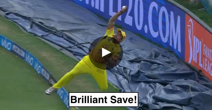 WATCH: Karn Sharma's brilliance on the boundary to save a certain six