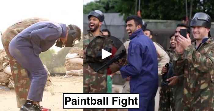 VIDEO: Kings XI Punjab players have fun in a paintball fight
