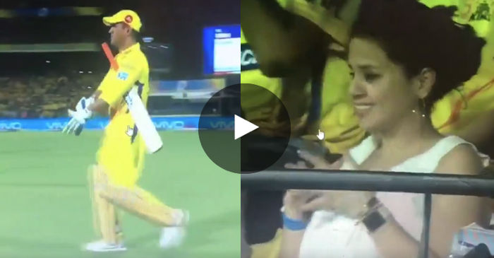 VIDEO: MS Dhoni receives a grand reception from Chennai crowd; Sakshi Dhoni reacts as well